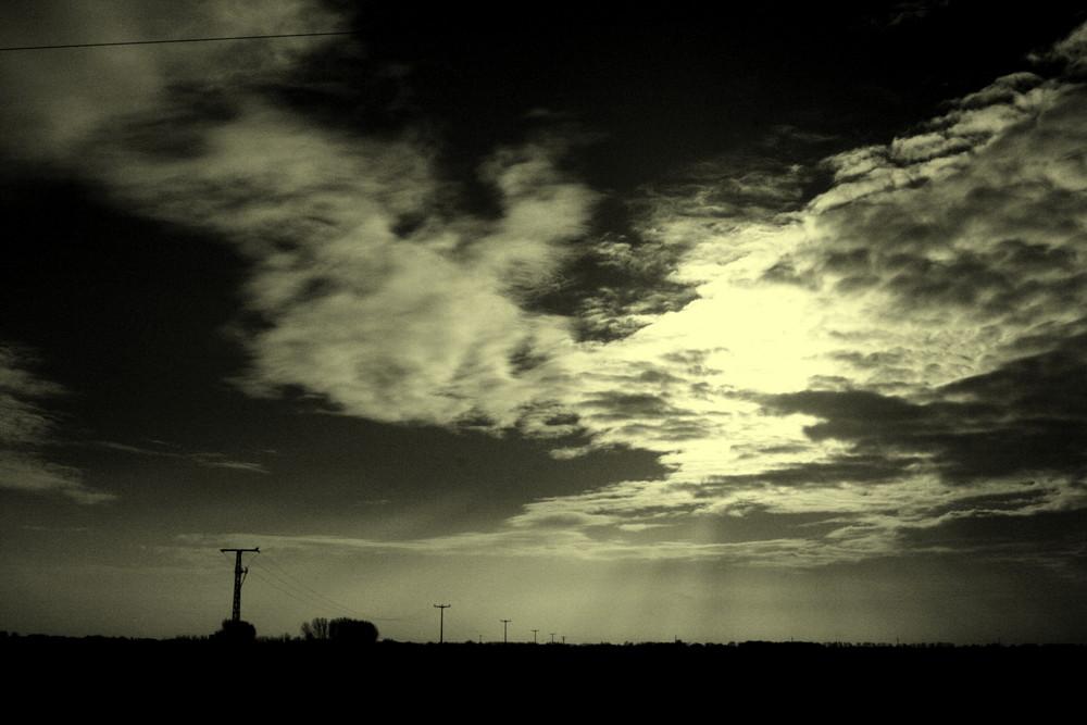Landschaft in schwarzweiß