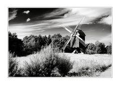 Landschaft mit Mühle