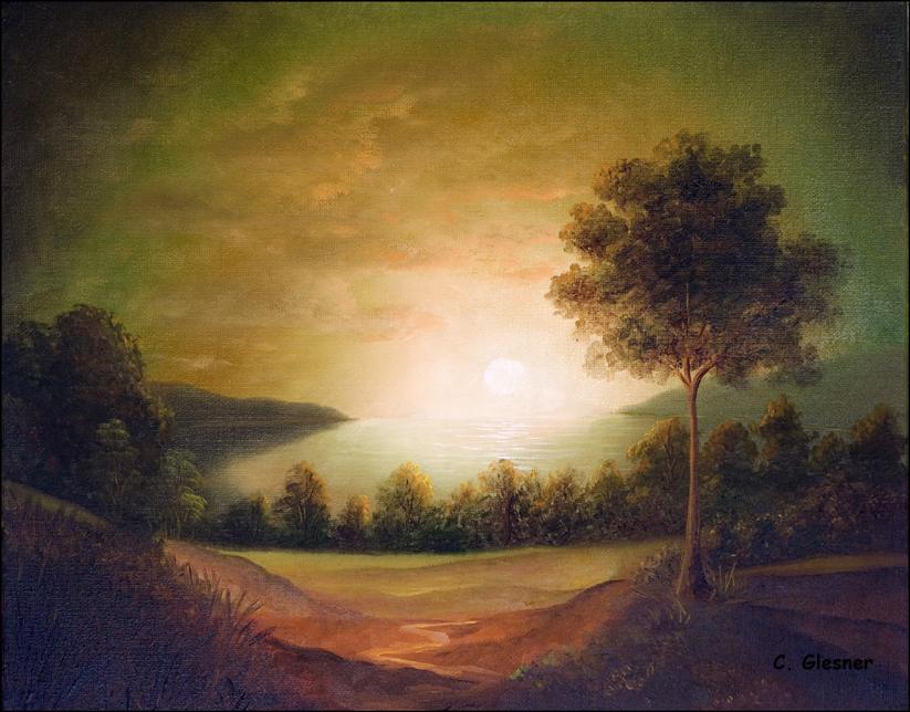 Landschaft Sonnenuntergang