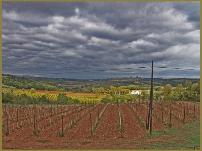 Landschaft um Monterriggioni