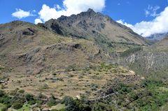 Landschaftspanorama beim Inka-Trail nach Machu Picchu