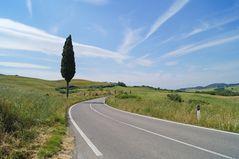 Landstraße Richtung Pienza