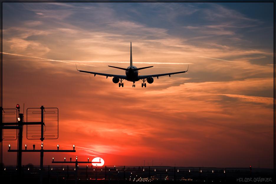 Landung am Nürnberger Flughafen 2