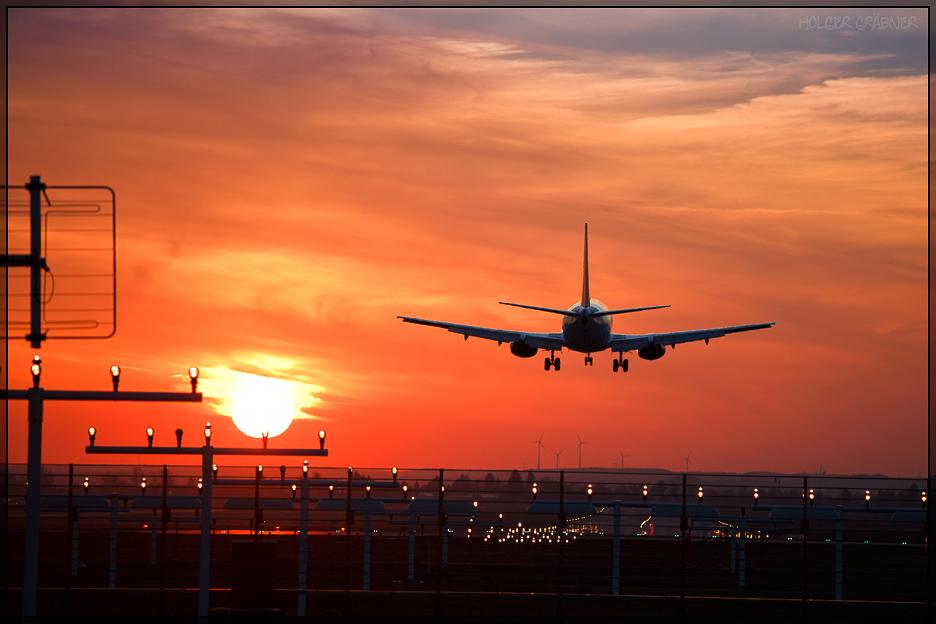 Landung am Nürnberger Flughafen