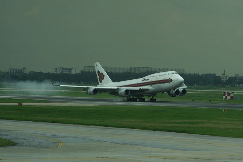 """Landung einer Boeing 747 """"Jumbo"""""""