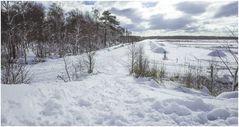 Landung im tiefen Schnee