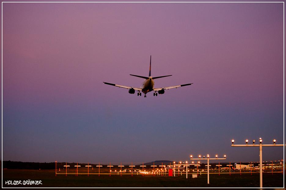 Landung in Nürnberg