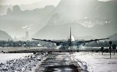 Landung Salzburg Airport