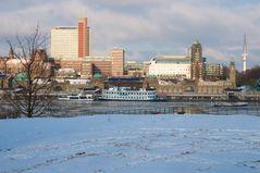 Landungsbrücken Hamburg im Schnee