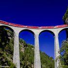 Landwasser Viaduct-view up