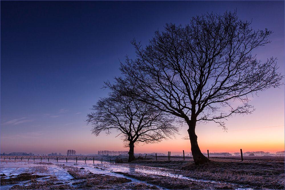 Lange vor Sonnenaufgang ...