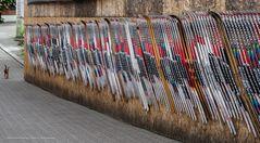 Langlaufspalier in Lillehammer