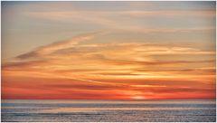 Langweiliger kitschiger Sonnenuntergang