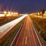 Langzeitbelichtung Autobahnbrücke
