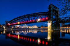 Langzeitbelichtung Hubbrücke
