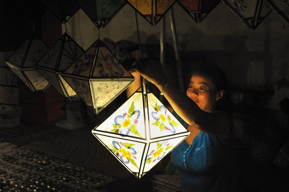 Lanterns at the night market