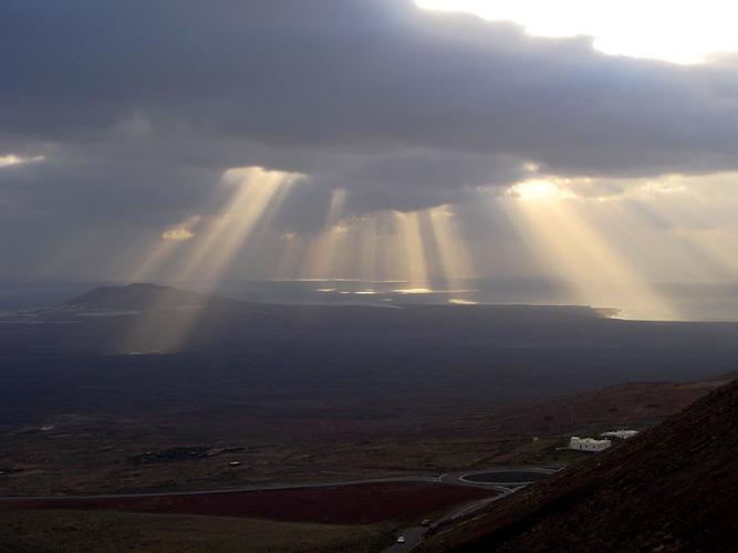 Lanzarote aus den Bergen