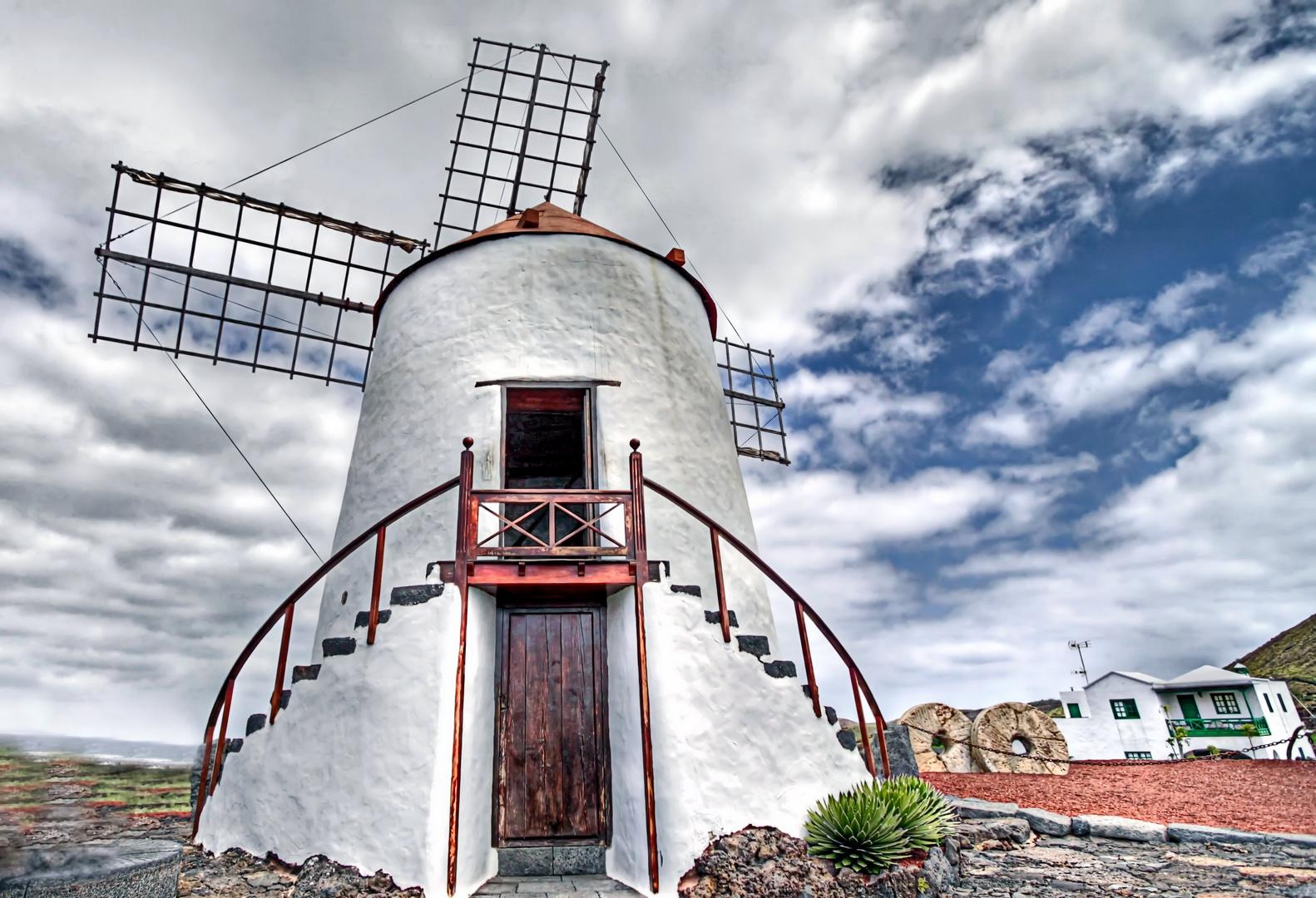 Lanzarote Mühle im Kaktusgarten