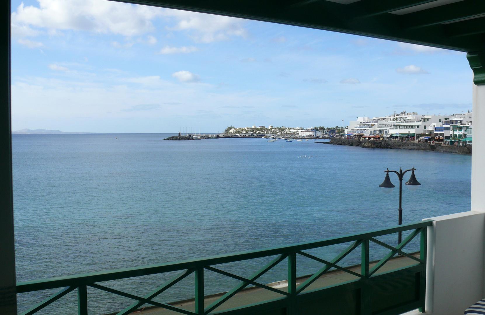 Lanzarote Playa Blanca Aussicht Vom Balkon Foto Bild Europe