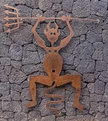 Lanzarote vor der Seuche ... Timanfaya (5) - Manriques Logo für den Park