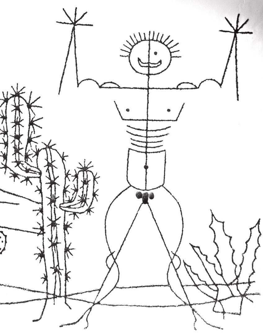 Lanzarote WC Tür im Kaktusgarten M 1