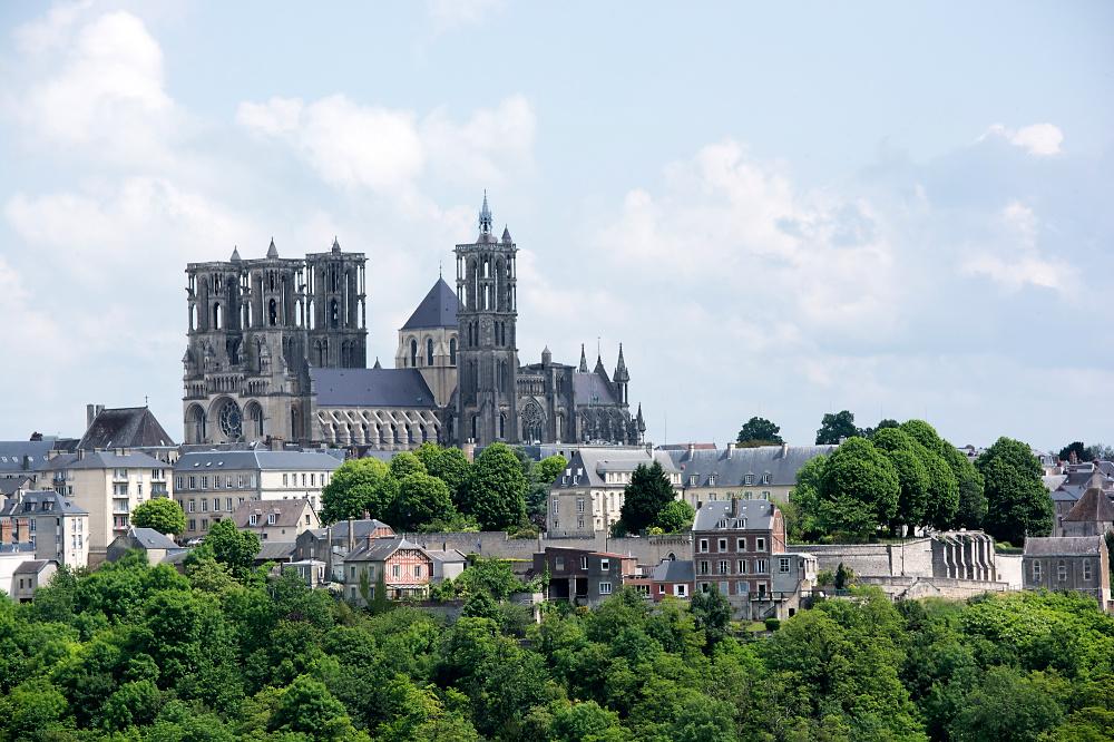 Laon Kathedralenblick