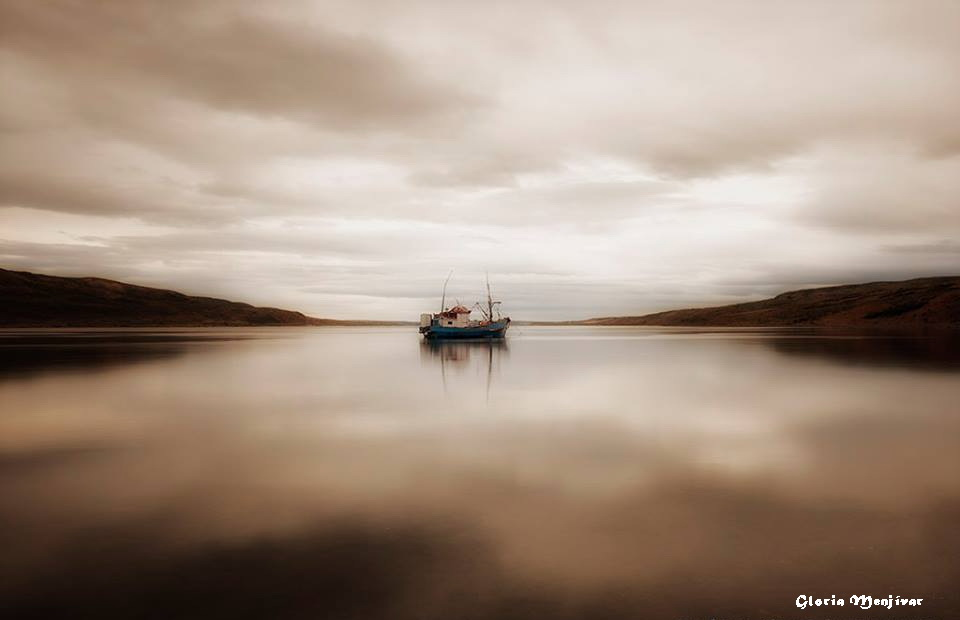 Las aguas del Seno Otway. Magallanes.