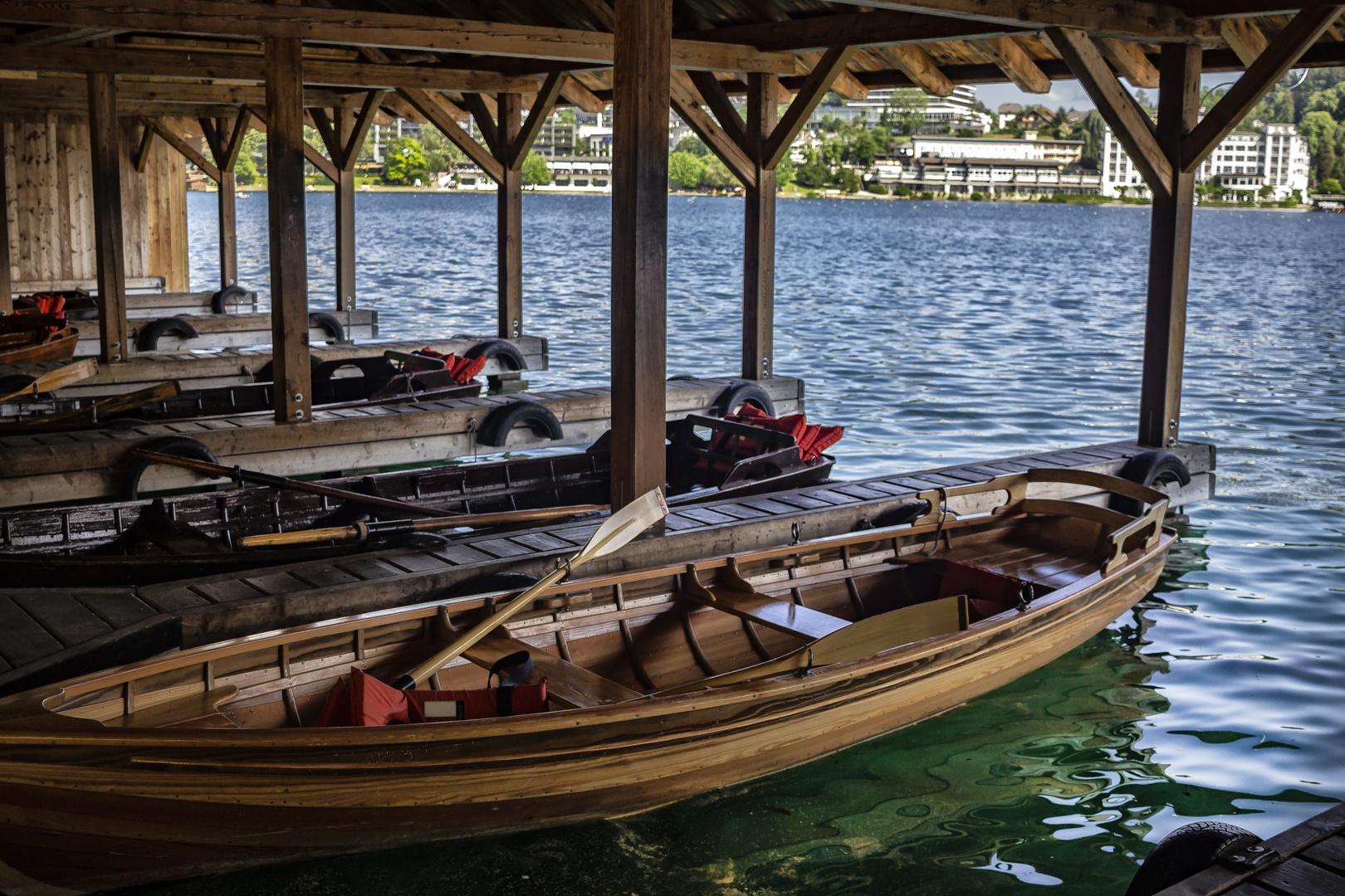 Las barcazas de Bled