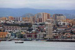 Las Palmas, Gran Canaria, Blick aus dem Hafen auf die Stadt