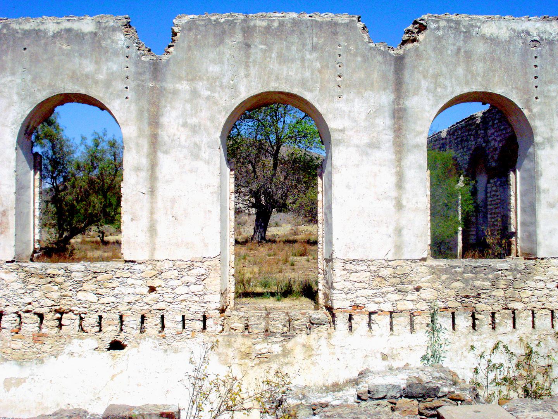 Las ruinas de pozos