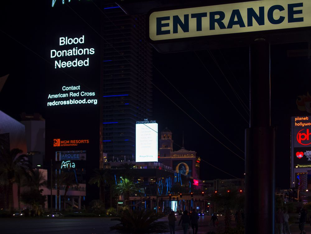 "Las Vegas, ""Blood Donations Needed"""