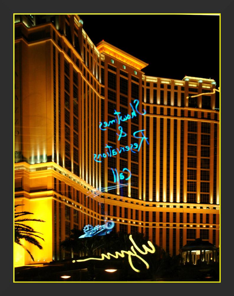 Las Vegas , Spiegelung der Multivision...