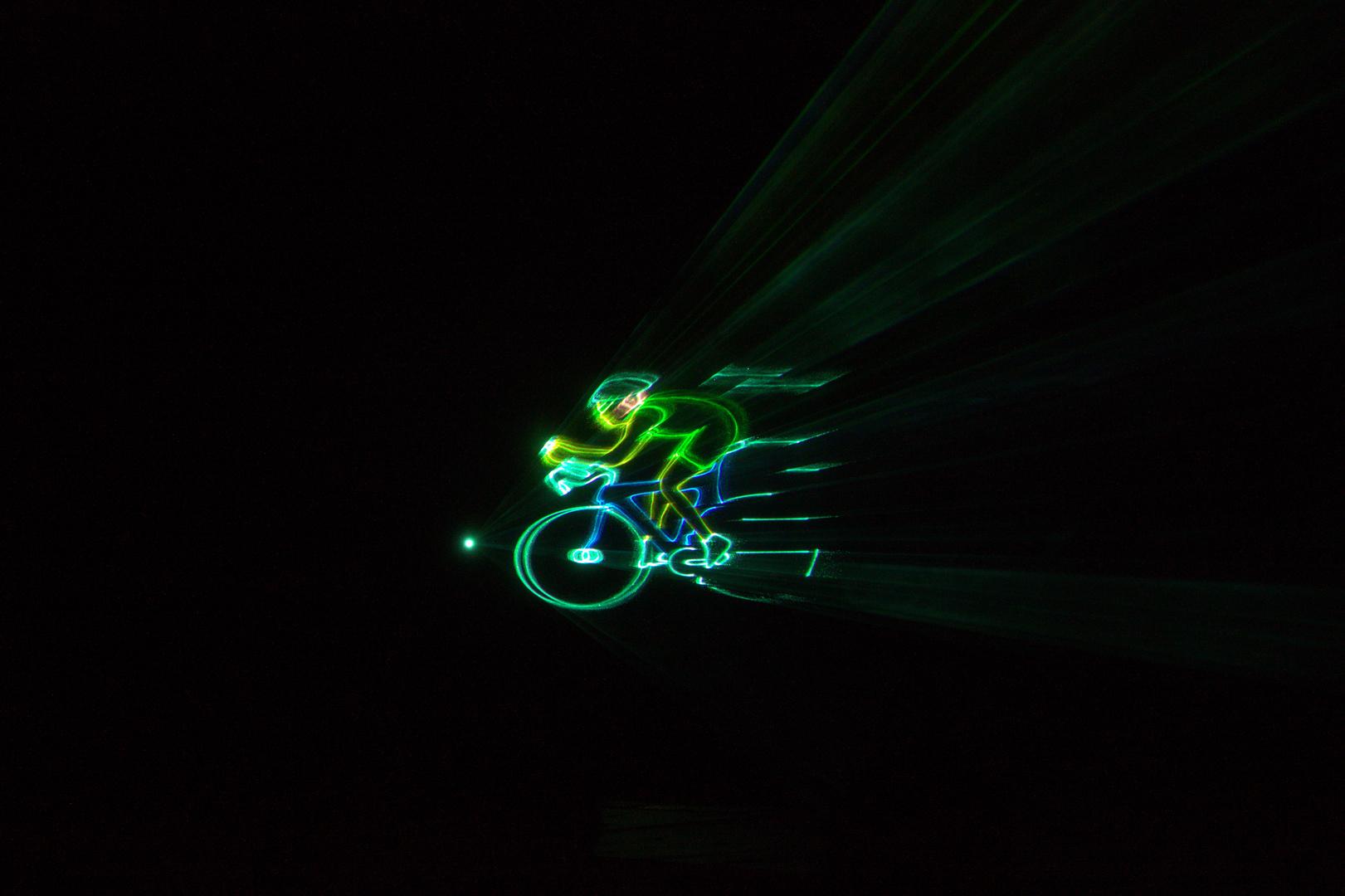 Laser -radfahrer