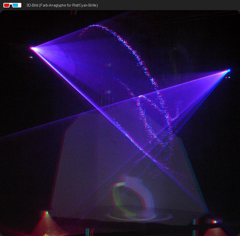 Laser Show mit Wasser