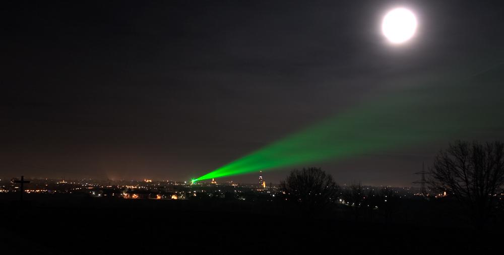 Laser über Augsburg II