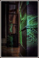 Laserinstallation 10 im Elektrizitätsmuseum Lissabon