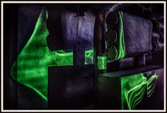 Laserinstallation 11im Elektrizitätsmuseum Lissabon