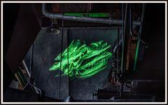 Laserinstallation 4 im Elektrizitätsmuseum Lissabon