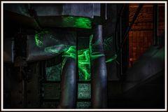 Laserinstallation 9 im Elektrizitätsmuseum Lissabon