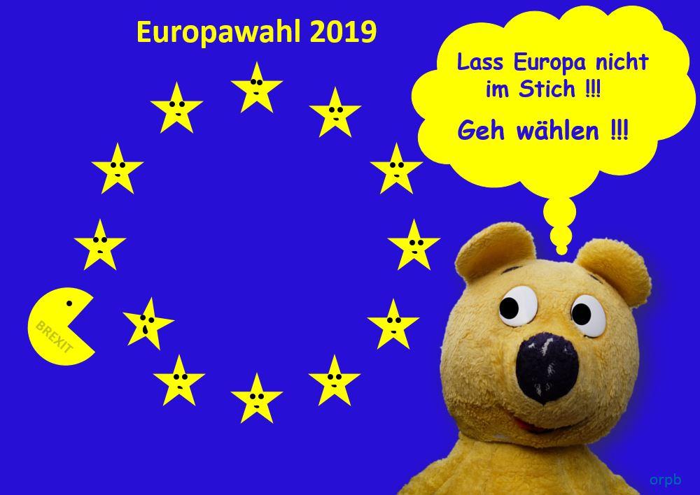 Lass Europa nicht im Stich! - Geh wählen!