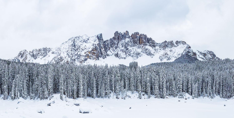 Latemar im Schnee