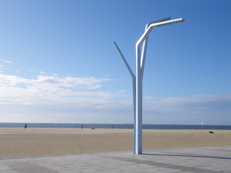 Laterne am Strand in Scheveningen