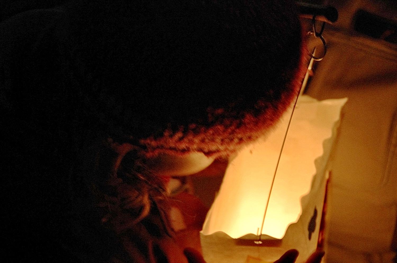 Laternenumzug: Die Kerze brennt noch