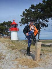 Latex-Fasion am Leuchtturm Gellen/Insel Hiddensee