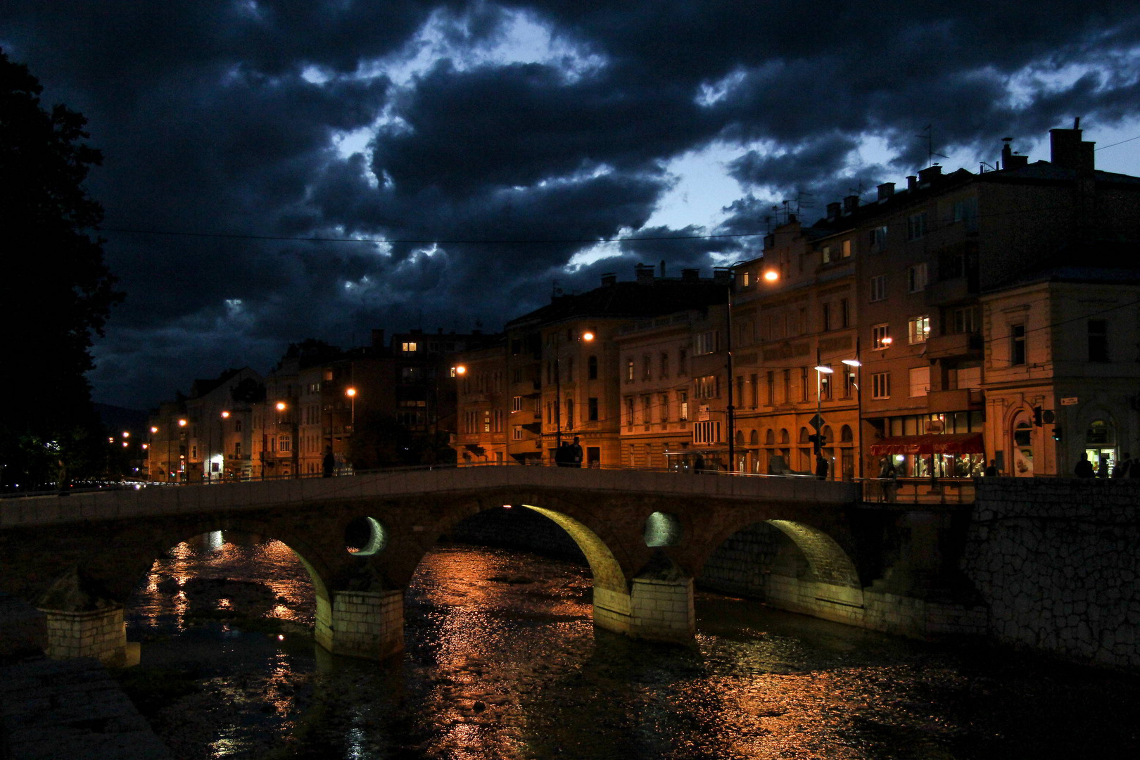 Latin Bridge and dramatic sky...