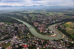 Laufen und Oberndorf von Norden