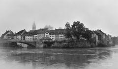 Laufenburg in Schwarz-Weiß
