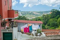 Laundry with valley view