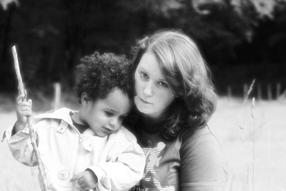 Laura und ihr Neffe Marley