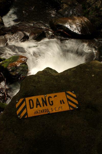 Laurel Falls Danger Sign